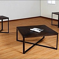 3 PACK OCCASIONAL TABLES- METAL AND WOOD X DESIGN