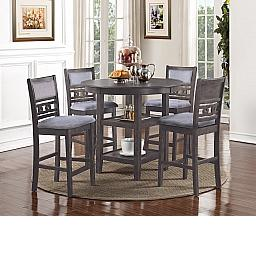 GIA COUNTER DINING 5 PC SET - GRAY