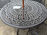 "48"" PATIO TABLE - POWDER COATED CAST ALUMINUM"
