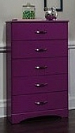 5 DRAWER CHEST RASPBERRY 27X16X47