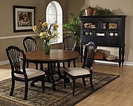 5-PIECE ROUND DINING SET WITH SIDE CHAIRS