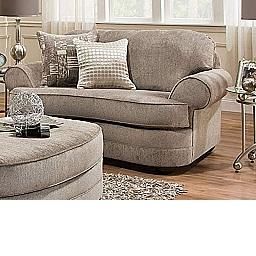 CHAIR 1/2- KINGSLEY PEWTER/ STARLIGHT PEWTER- BEAUTYREST COLLECTION