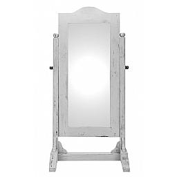 CHEVAL MIRROR STAND - ANTIQUE WHITE