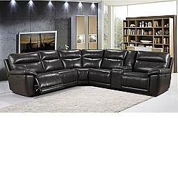 MARTIN POWER RECLINING MODULAR SECTIONAL W/ 3 RECLINERS, 1 CONSOLE - GRAY