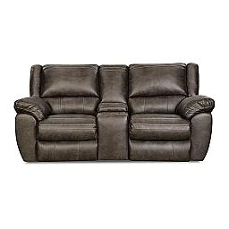 RECLINING LOVESEAT W/ CONSOLE- SHILOH GRANITE- BEAUTYREST COLLECTION