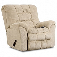 AEGEAN CREAM- ROCKER RECLINER W/ HEAT AND MASSAGE