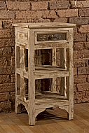 Alena Two Shelf Stand - Distressed White