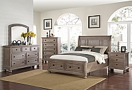 ALLEGRA KING BED-PEWTER