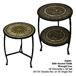 Aspen Accent End Table 18 Single Tier End Table