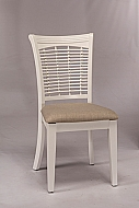 BAYBERRY WICKER CHAIR- SET OF 2 WHITE