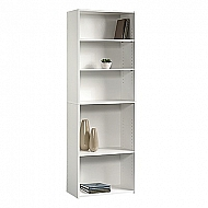 BEGINNINGS 5 SHELF BOOKCASE WHITE 71 X 24.5