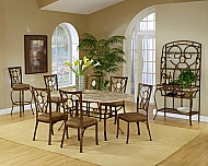 BROOKSIDE 7 PIECE RECTANGULAR DINING SET WITH OVAL BACK CHAIRS