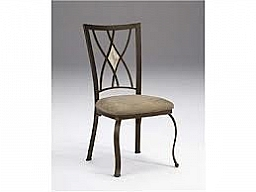 BROOKSIDE DIAMOND FOSSIL BACK DINING CHAIR- SET OF 2