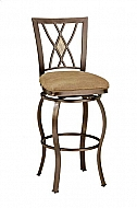 BROOKSIDE DIAMOND FOSSIL BACK SWIVEL BAR STOOL