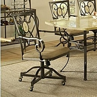 BROOKSIDE OVAL CASTER CHAIRS- SET OF 2