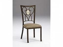 BROOKSIDE OVAL FOSSIL BACK DINING CHAIR - SET OF 2