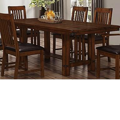 BUCHANAN DINING TABLE 6 CHAIRS BROWN MAHOGANY