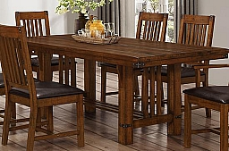 BUCHANAN DINING TABLE- BROWN MAHOGANY