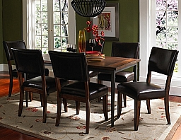 CAMERON 7 PIECE RECTANGULAR DINING SET WITH PARSON CHAIRS