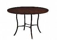 CAMERON METAL DINING TABLE WITH WOOD TOP