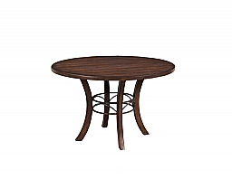 CAMERON ROUND DINING TABLE WITH METAL RING