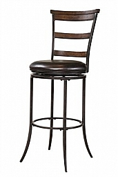 CAMERON SWIVEL LADDER BACK BAR STOOL