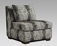 CHAIR SHIMMER PEWTER ARMLESS (PALEO ASH)