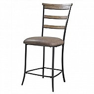 CHARELSTON LADDER BACK NON-SWIVEL STOOL SET OF 2