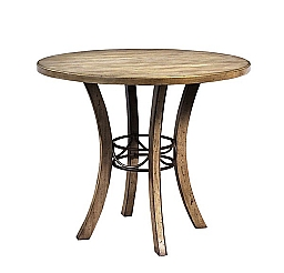 CHARLESTON ROUND WOOD COUNTER HEIGHT TABLE