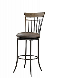 CHARLESTON SWIVEL VERTICAL SPINDLE COUNTER STOOL