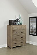Highlands 5 Drawer Chest Driftwood