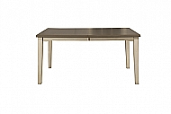 CLARION RECTANGLE DINING TABLE- DISTRESSED GRAY TOP W/ SEA WHITE BASE