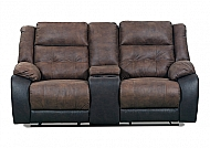 COMMANDER MOCHA - JAVA DUAL RECLINING LOVESEAT