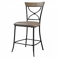 CHARLESTON NONSWIVEL COUNTER STOOL X Back SET OF 2