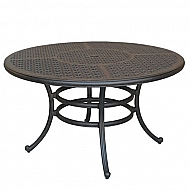 DELUXE CAST MARBLE BRONZE TABLE 52""