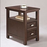 DEMPSEY CHAIRSIDE TABLE - ESPRESSO