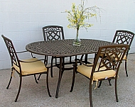 DERBY OVAL TABLE SET & 4 CHAIRS  TABLE 2X42X28.5