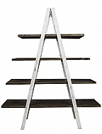 DISTRESS WHITE LADDER SHELF