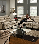 DOUBLE MOTION GLIDING LOVESEAT