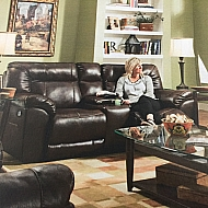 DOUBLE RECLINING LOVESEAT-ABILENE TOBACCO