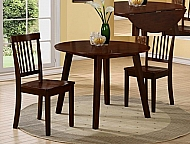 DROP LEAF TABLE 2 CHAIRS