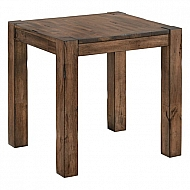 END TABLE- CASUAL RUSTIC SOLID WOOD