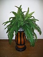 FERN IN PLASTIC VASE