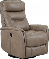 GEMINI POWER SWIVEL GLIDER W/ ADJ HEADREST- LINEN