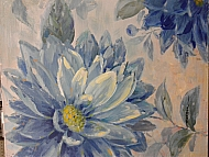 HANDPAINTED OIL PAINTING- BLUE FLOWER SCENE