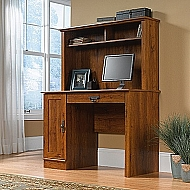 HARVEST MILL COMPUTER DESK WITH HUTCH ABBEY OAK FINISH 44X20X56