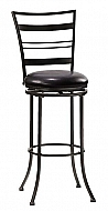 HOLLAND (HORIZONTAL SLAT BACK) METAL SWIVEL COUNTER STOOL