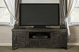 Hundley Entertainment Unit - Distressed Dark Gray