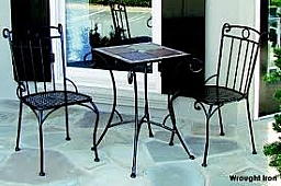 Includes: Classic 20'' Sq. Slate Top, Table Base, & 2 Classic Bistro Chairs