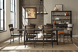 JENNINGS RECTANGLE DINING TABLE & 6 CHAIRS